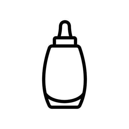 aroma liquid bottle icon vector. aroma liquid bottle sign. isolated contour symbol illustration