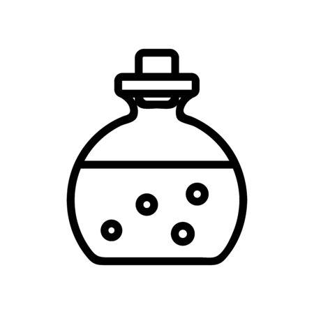 bottle with aromatic liquid icon vector. bottle with aromatic liquid sign. isolated contour symbol illustration Illustration