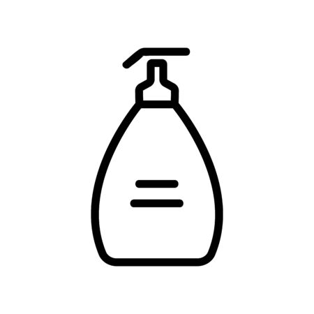 aroma liquid soap with dispenser icon vector. aroma liquid soap with dispenser sign. isolated contour symbol illustration