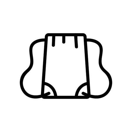 plain rectangular travel backpack icon vector. plain rectangular travel backpack sign. isolated contour symbol illustration Illustration