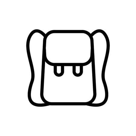 plain leather backpack icon vector. plain leather backpack sign. isolated contour symbol illustration Иллюстрация