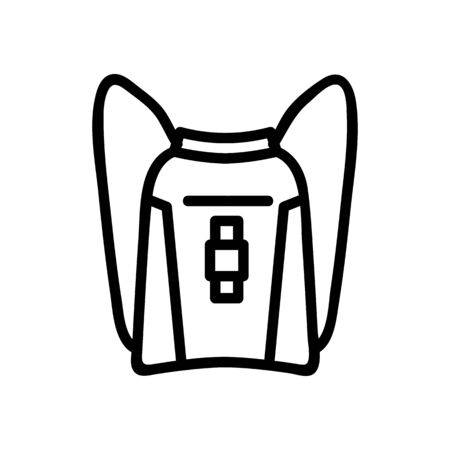 travel backpack with zipper icon vector. travel backpack with zipper sign. isolated contour symbol illustration Illustration