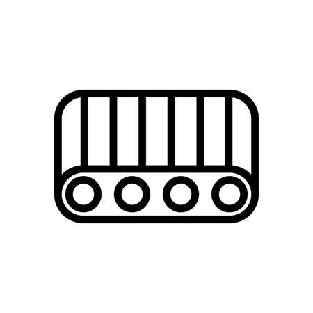 cavity conveyor belt icon vector. cavity conveyor belt sign. isolated contour symbol illustration