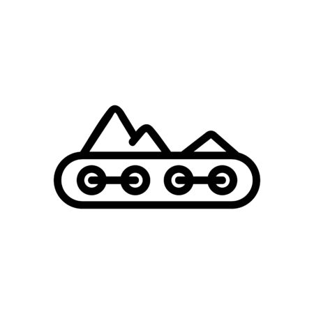 conveyor with friable material icon vector. conveyor with friable material sign. isolated contour symbol illustration