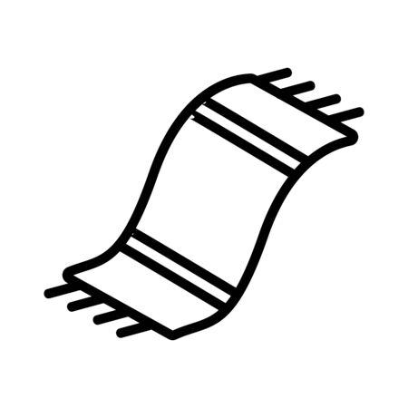 textile carpet icon vector. textile carpet sign. isolated contour symbol illustration