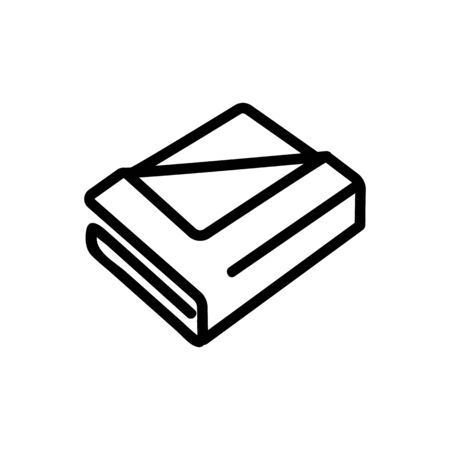 towel set icon vector. towel set sign. isolated contour symbol illustration Illustration