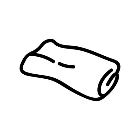 rolled carpet icon vector. rolled carpet sign. isolated contour symbol illustration