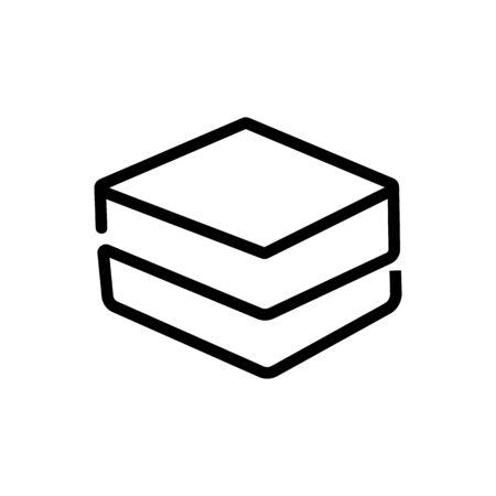 pila de vector de icono de ropa de cama. pila de letrero de ropa de cama. Ilustración de símbolo de contorno aislado