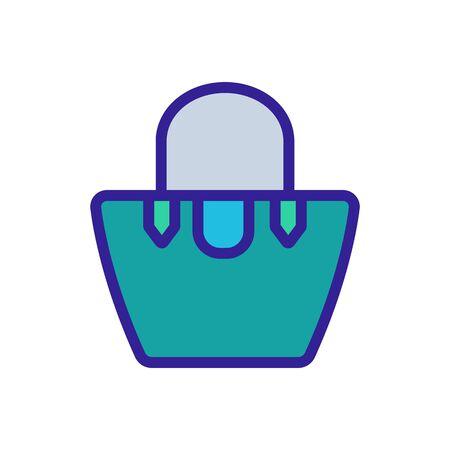 women bag extended to top sign. color symbol illustration