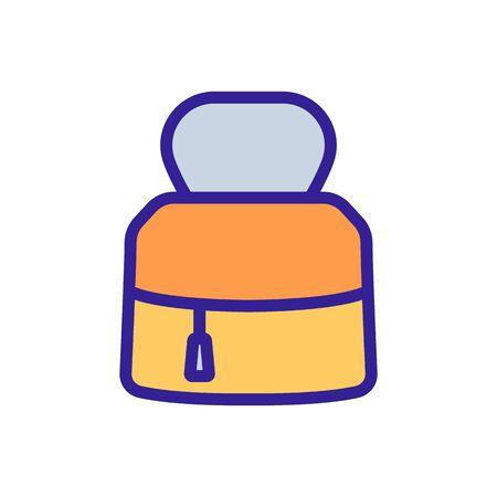women bag with zipper sign. color symbol illustration