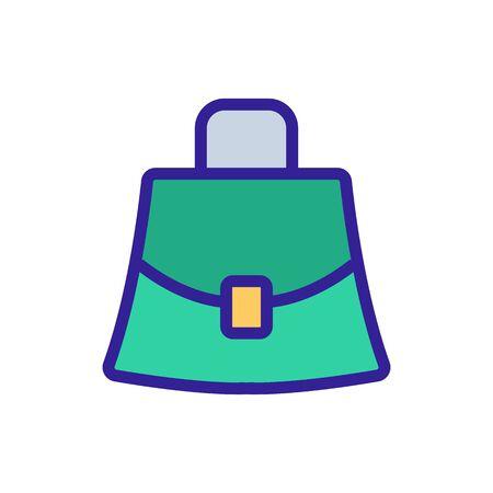 stylish small women bag sign. color symbol illustration