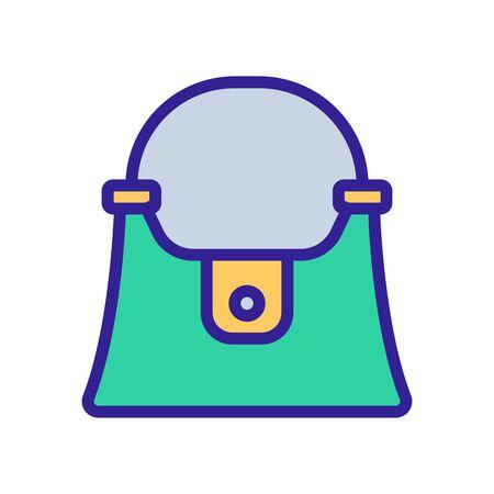women bag with short handle sign. color symbol illustration Illustration