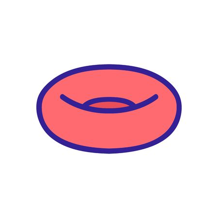 inflatable swimming ring side view icon vector. inflatable swimming ring side view sign. color symbol illustration Illustration