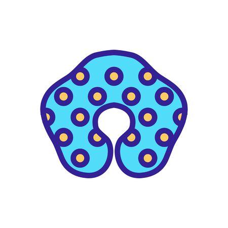 inflatable protective dot circle icon vector. inflatable protective dot circle sign. color symbol illustration Иллюстрация