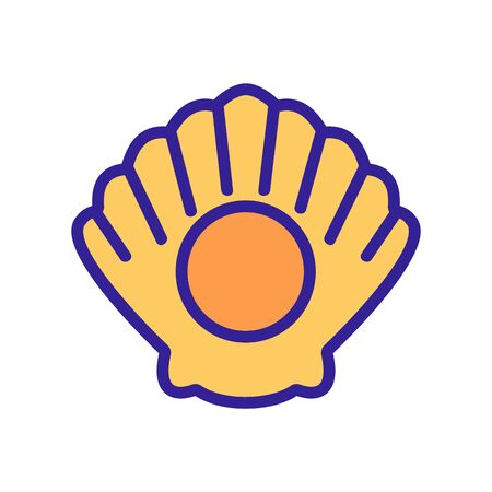 inflatable shell icon vector. inflatable shell sign. color symbol illustration Иллюстрация