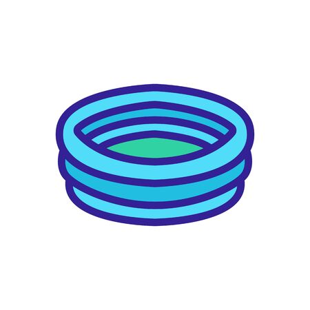 inflatable pool icon vector. inflatable pool sign. color symbol illustration