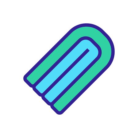 floating inflatable rounded mattress icon vector. floating inflatable rounded mattress sign. color symbol illustration