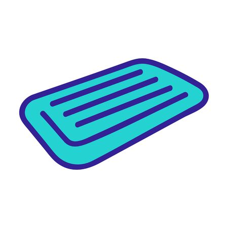 inflatable swimming mattress icon vector. inflatable swimming mattress sign. color symbol illustration