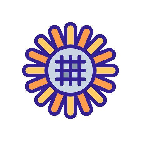 ripe sunflower flower icon vector. ripe sunflower flower sign. color symbol illustration