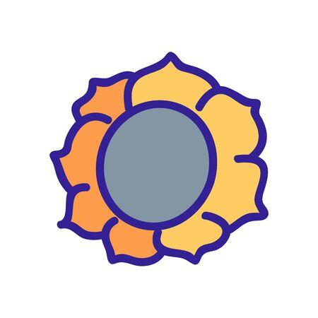 sunflower flower plant icon vector. sunflower flower plant sign. color symbol illustration Illustration