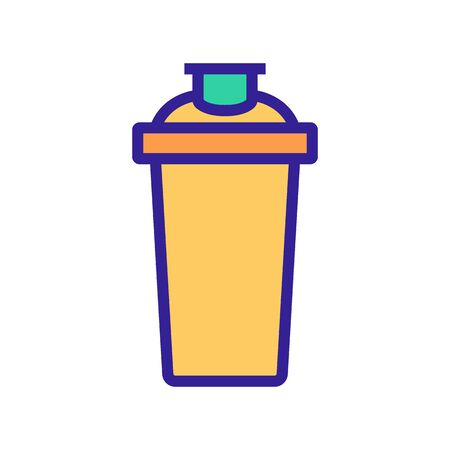 shaker for protein shakes icon vector. shaker for protein shakes sign. color symbol illustration Illustration