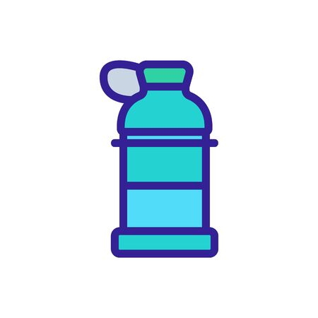 shaker bottle with hinged lid icon vector. shaker bottle with hinged lid sign. color symbol illustration
