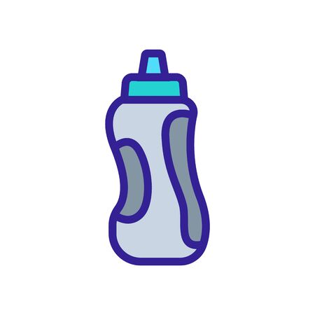 convenient shape shaker with integrated tubing icon vector. convenient shape shaker with integrated tubing sign. color symbol illustration
