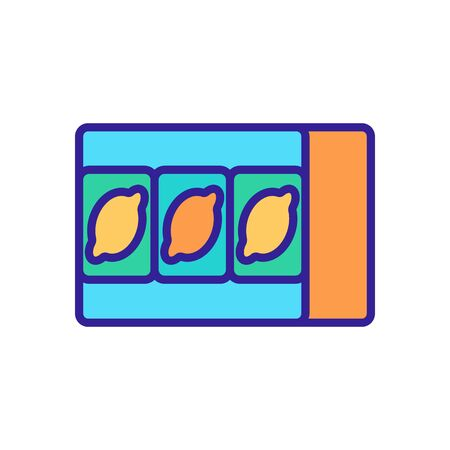 three lemons slot icon vector. three lemons slot sign. color symbol illustration