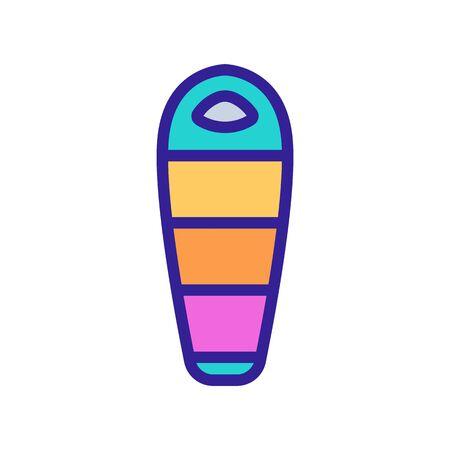 travel sleeping bag for tourist icon vector. travel sleeping bag for tourist sign. color symbol illustration