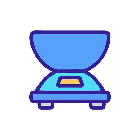 electric scales with weighing bowl side view icon vector. electric scales with weighing bowl side view sign. color symbol illustration