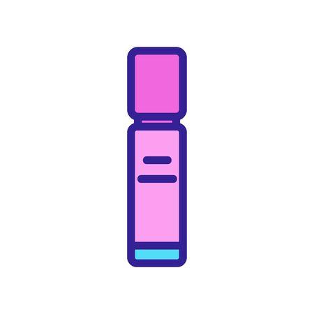long bottle pocket perfume icon vector. long bottle pocket perfume sign. color symbol illustration