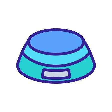 electric circular scales icon vector. electric circular scales sign. color symbol illustration