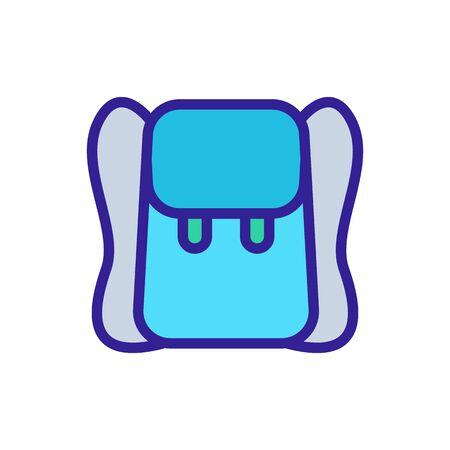 plain leather backpack icon vector. plain leather backpack sign. color symbol illustration Иллюстрация
