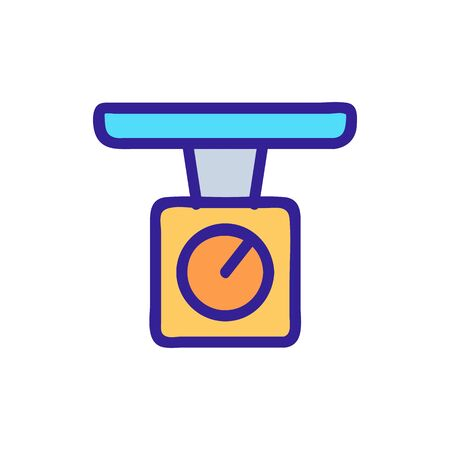 mechanical trade scales icon vector. mechanical trade scales sign. color symbol illustration