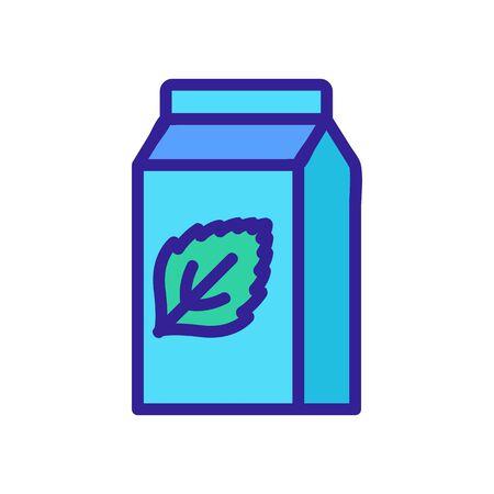 refreshing packaged mint yogurt icon vector. refreshing packaged mint yogurt sign. color symbol illustration