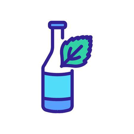 mint yogurt icon vector. mint yogurt sign. color symbol illustration