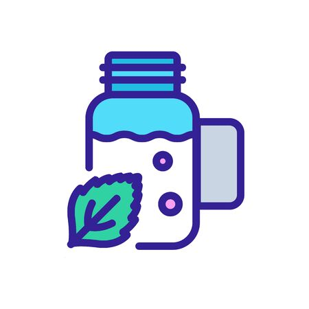 peppermint extract in bottle icon vector. peppermint extract in bottle sign. color symbol illustration Illustration