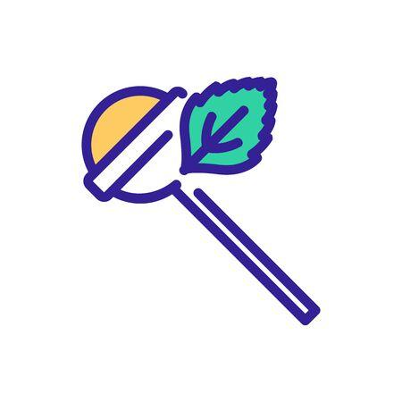 mint chupachups icon vector. mint chupachups sign. color symbol illustration