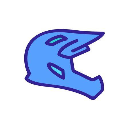 full face cross helmet icon vector. full face cross helmet sign. color symbol illustration Illustration