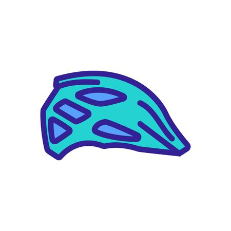 protective motocross racing helmet icon vector. protective motocross racing helmet sign. color symbol illustration Illustration