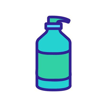 liquid cream with dispenser icon vector. liquid cream with dispenser sign. color symbol illustration