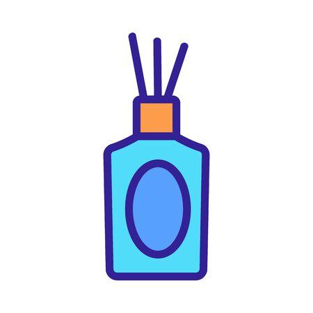 incense sticks aromatherapy icon vector. incense sticks aromatherapy sign. color symbol illustration
