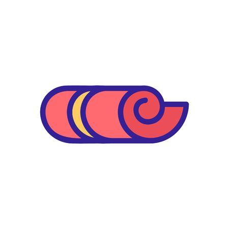 folded in half carpet icon vector outline illustration