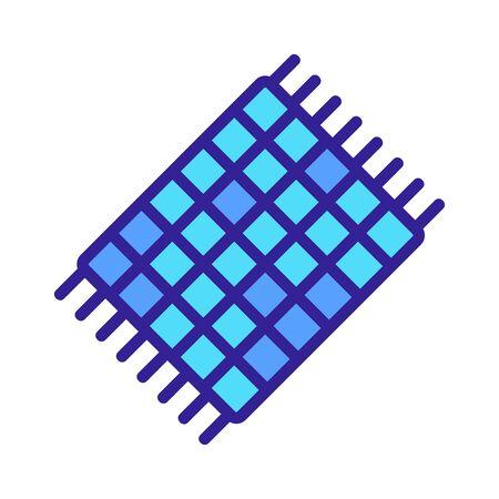 unrefined towel icon vector. unrefined towel sign. color symbol illustration Illustration