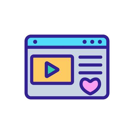 favorite video game folder icon vector. favorite video game folder sign. color symbol illustration