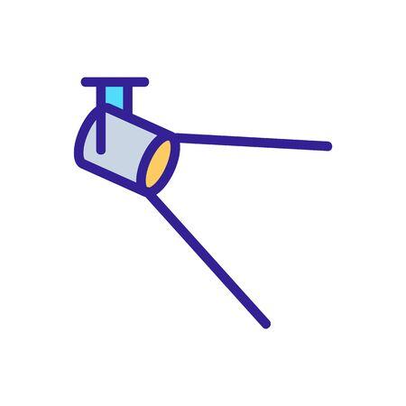 radiates light floodlight icon vector illustration