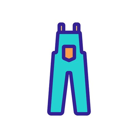 work clothes icon vector. work clothes sign. color symbol illustration