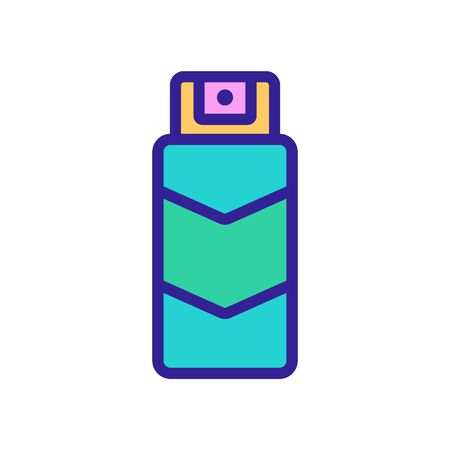 spray lubricant icon vector. spray lubricant sign. color symbol illustration
