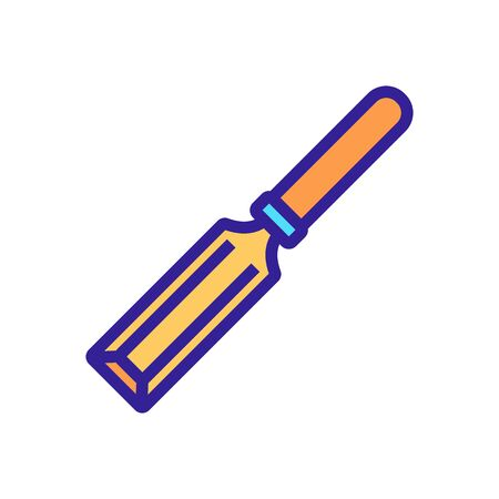tool chisel icon vector. tool chisel sign. color symbol illustration