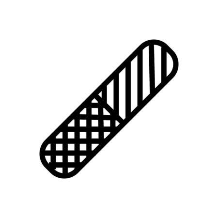 plastic double sided nail file icon vector. plastic double sided nail file sign. isolated contour symbol illustration 版權商用圖片 - 146705644